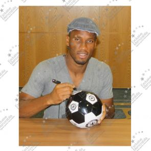 Didier Drogba Signed Chelsea FC Football