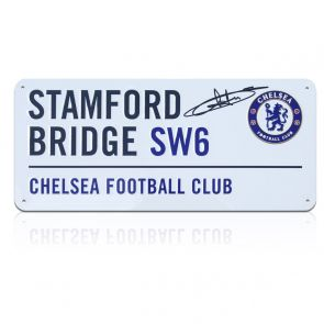 Didier Drogba Signed Chelsea Street Sign