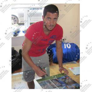 Eden Hazard Signed Chelsea Football Photo: Goal Celebration