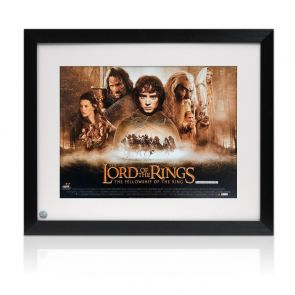 Elijah Wood Signed The Lord Of The Rings Poster. Framed