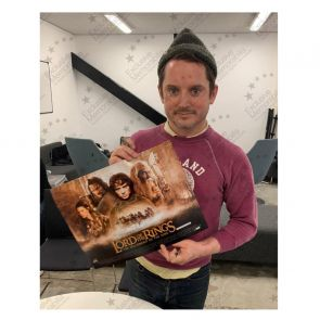 Elijah Wood Signed The Lord Of The Rings Poster In Gift Box