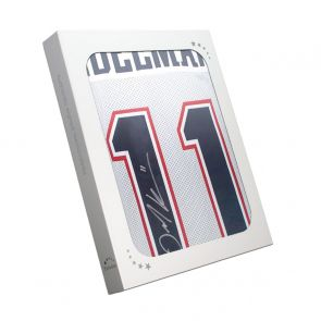 Julian Edelman Signed American Football Jersey. In Gift Box