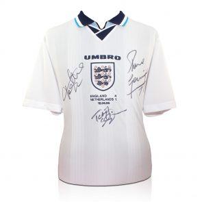 Adams, Sheringham, Gazza Signed Shirt