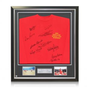 England 1966 World Cup Winning Team Signed Shirt, Framed