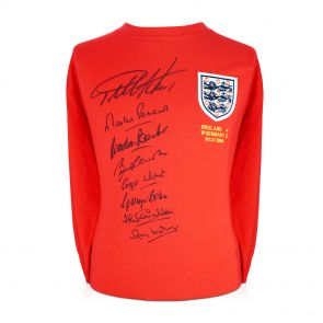 England 1966 World Cup Winning Team Signed Shirt In Gift Box