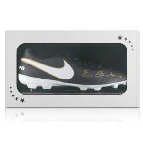 Eric Cantona Signed Nike Tiempo Football Boot In Gift Box