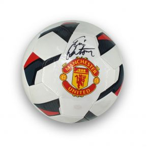 Eric Cantona Signed Manchester United Football In Display Case