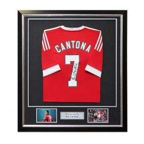 Framed Eric Cantona Signed Manchester United Home Shirt