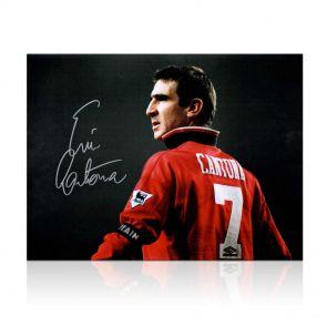 Cantona collar up photo, Man Utd