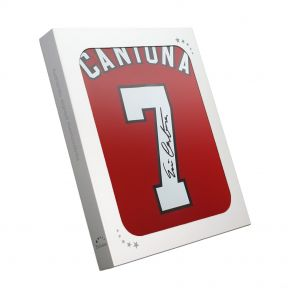 Eric Cantona Signed Manchester United Home Shirt In Gift Box
