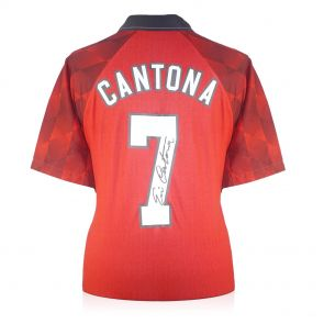 Eric Cantona Signed Manchester United 1998 Home Shirt In Gift Box