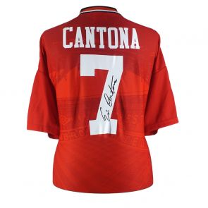 Eric Cantona Signed Manchester United 1996 Home Shirt