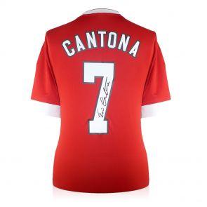 Eric Cantona Signed Manchester United Home Shirt