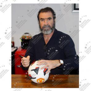 Eric Cantona Signed White Manchester United Football