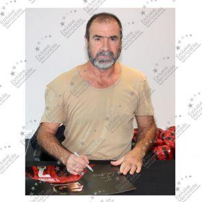 Eric Cantona Signed Manchester United Photo