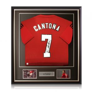 Eric Cantona Signed Manchester United Shirt Framed