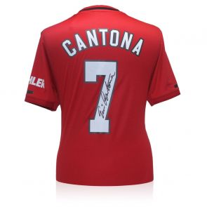 Eric Cantona Signed Manchester United 2019-20 Shirt