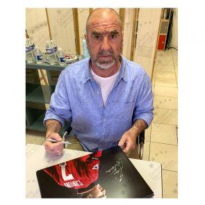 Eric Cantona Signed Manchester United Photo. Deluxe Frame