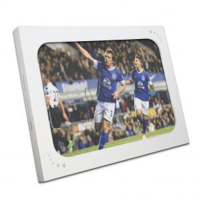 Signed Leighton Baines Everton Photo In Gift Box