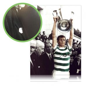 Billy McNeill Signed Celtic Photo: Lifting The European Cup. Damaged A