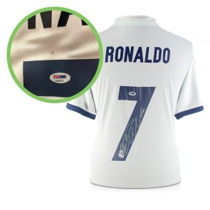 Cristiano Ronaldo Signed Real Madrid 2016-17 Home Shirt - Damaged Stock A