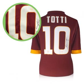 Francesco Totti Signed Roma Shirt