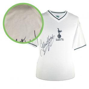 Glenn Hoddle Signed Tottenham Hotspur 1981 Shirt. Damaged B