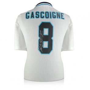 Paul Gascoigne Signed England Euro 1996 Shirt