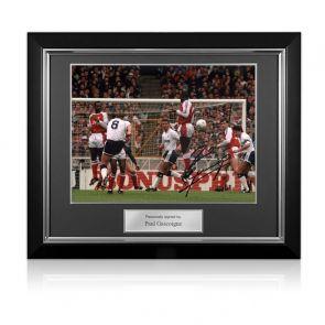 Paul Gascoigne Signed Photo: Arsenal Free-Kick. Deluxe Frame