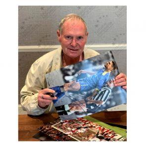 Paul Gascoigne Signed Photo: With Vinnie Jones. Framed