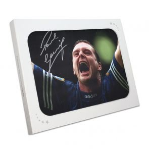 Paul Gascoigne Signed Rangers Photo. In Gift Box