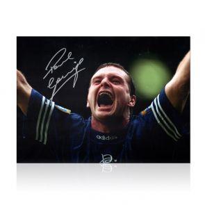 Paul Gascoigne Signed Rangers Photo