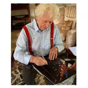 Tom Baker Dr Who Signed Tardis Poster. In Gift Box