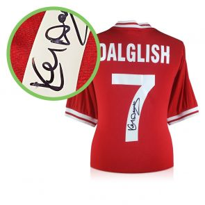 Kenny Dalglish Signed Liverpool 1982 Shirt. Damaged A