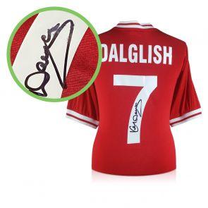 Kenny Dalglish Signed Liverpool 1982 Shirt. Damaged B