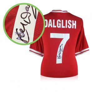 Kenny Dalglish Signed Liverpool 1982 Shirt. Damaged C