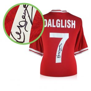 Kenny Dalglish Signed Liverpool 1982 Shirt. Damaged D