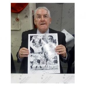 Dave Mackay Signed Tottenham Hotspur Photo. Deluxe Frame