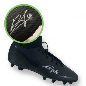 Bruno Fernandes Signed Black Football Boot Right. Damaged B