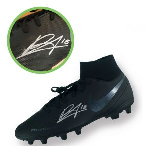 Bruno Fernandes Signed Black Football Boot Left. Damaged C