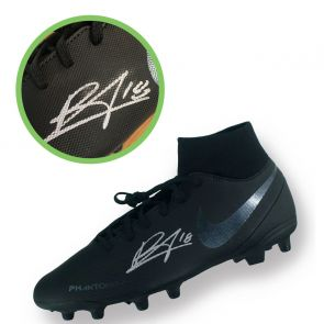 Bruno Fernandes Signed Black Football Boot Left. Damaged D