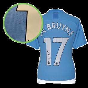 Kevin De Bruyne Signed Manchester City 2019-20 Shirt. Damaged Stock A