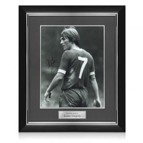 Kenny Dalglish Signed Liverpool Photo: The King's Debut. Deluxe Frame