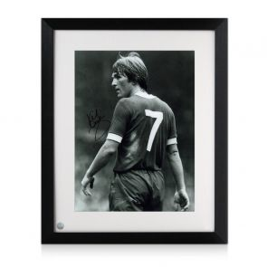 Kenny Dalglish Signed Liverpool Photo: The King's Debut. Framed
