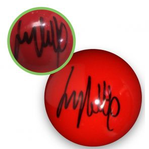 Jimmy White Signed Red Snooker Ball. Damaged A