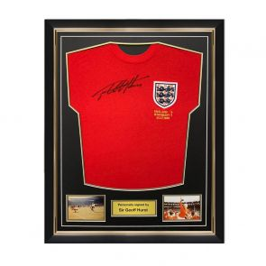 Sir Geoff Hurst Signed England 1966 World Cup Shirt. Superior Frame