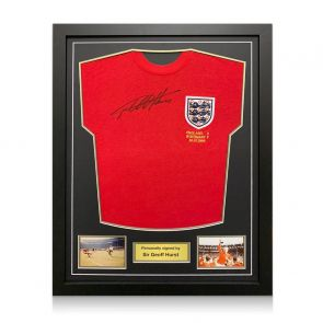 Sir Geoff Hurst Signed England 1966 World Cup Shirt. Standard Frame