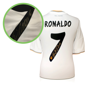 Cristiano Ronaldo Signed Real Madrid Shirt