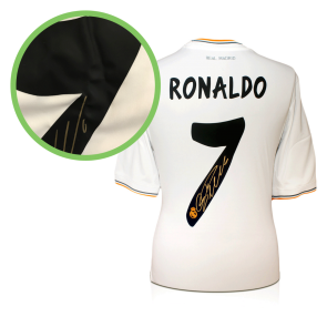 Cristiano Ronaldo Signed Real Madrid Shirt