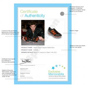 Steven Gerrard Signed Adidas Football Boot